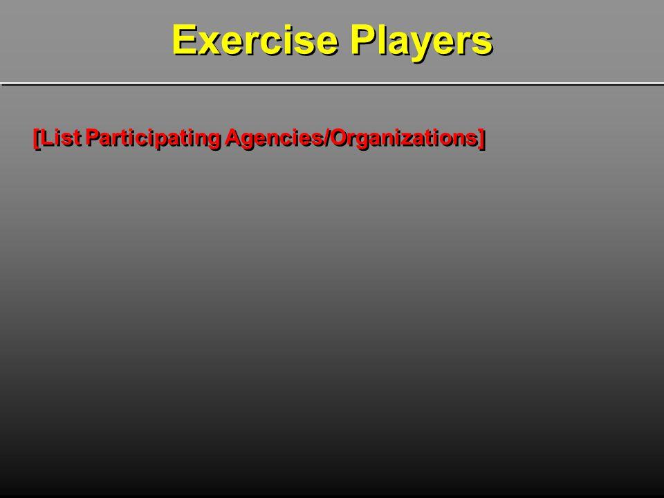 [List Participating Agencies/Organizations]